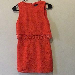 Topshop petite orange dress size 2 mini